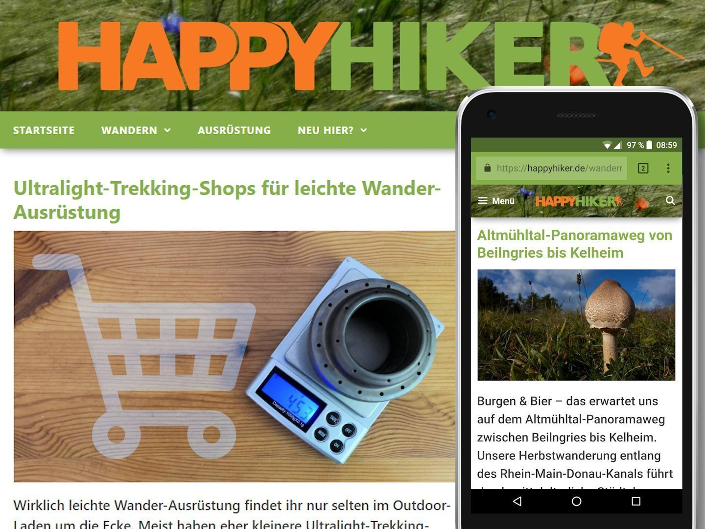 Screenshots: HAPPYHIKER auf PC & Smartphone