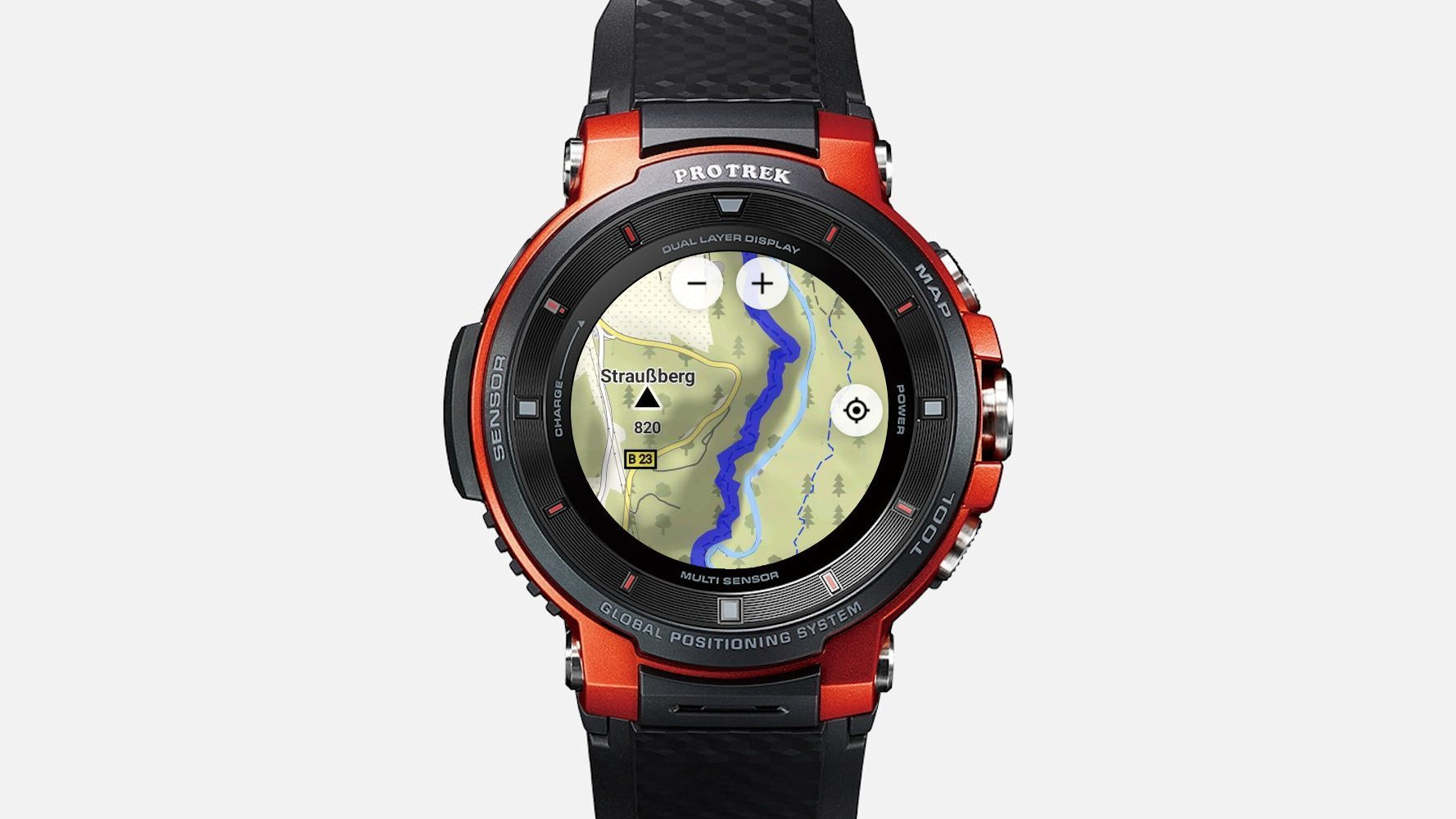 Wear OS App Myradar Locus Map Watch